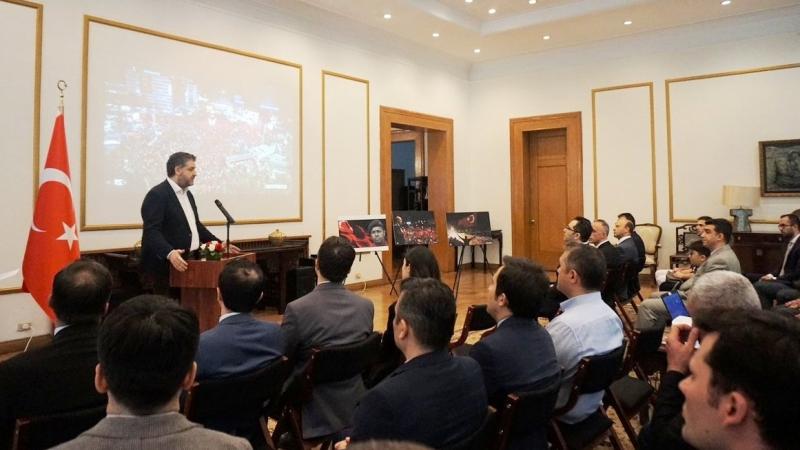 15 Temmuz Çin Pekin Büyükelçiliğimizde anıldı