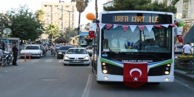 15 Temmuz'da Şanlıurfa'da Ulaşım Ücretsiz
