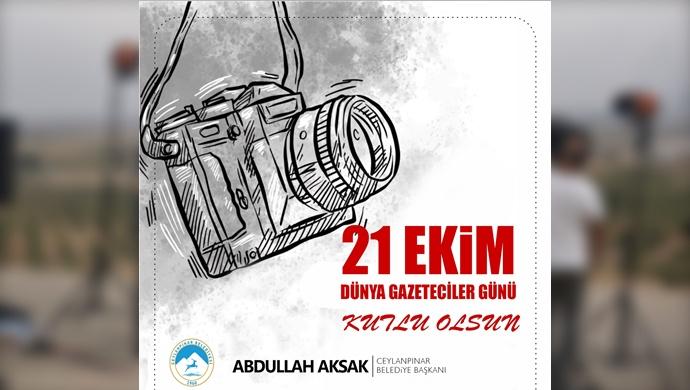 21 Ekim Dünya Gazeteciler Günü Mesajı