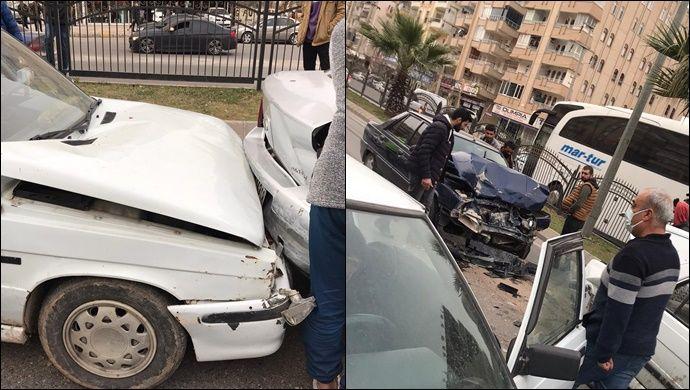 Abide'de maddi hasarlı trafik kazası