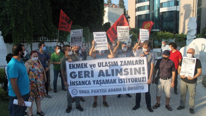 Adana'da ulaşım zamlarına tepki