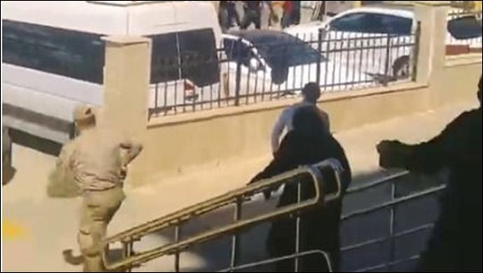 Adliye önünde iki grup arasında kavga