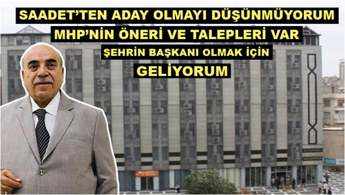 Ahmet Bahçivan çatı adaylığı için ne dedi?