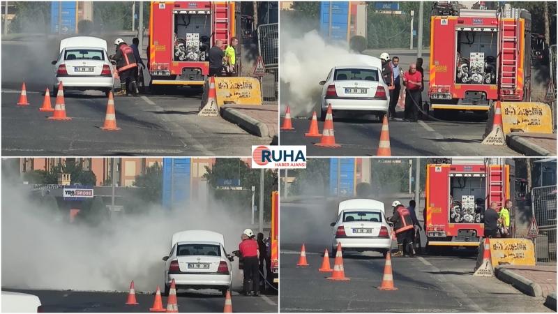 Akabe'de Seyir Halindeki Otomobil Alev Aldı-(Videolu)