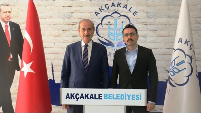 Akçakale Cumhuriyet Savcısı'ndan Başkan Yalçınkaya'ya Ziyaret-(VİDEO)