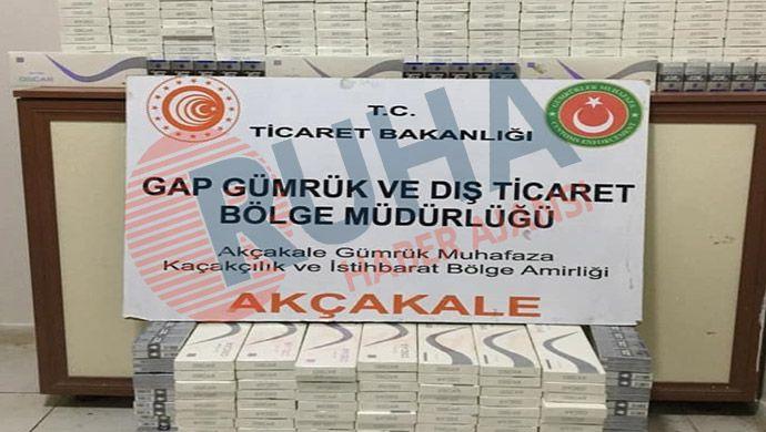 Akçakale Gümrük Kapısı'nda 5 bin 350 paket yakalandı