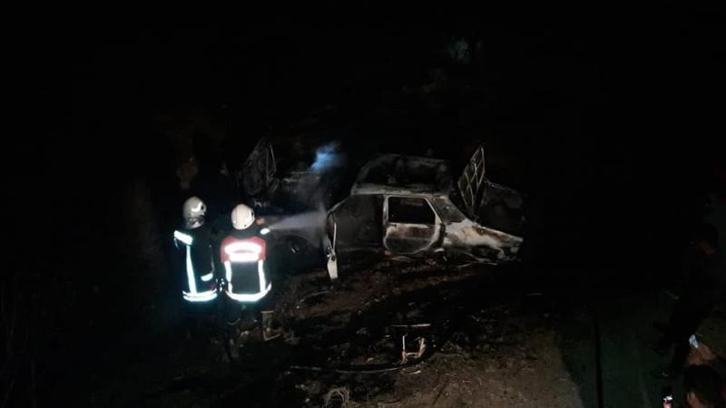 Akçakale'de araç yangını …