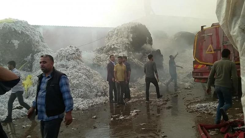 Akçakale'de fabrika yangını …