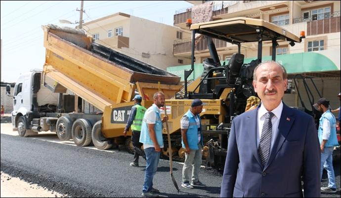 Akçakale'de prestij caddesine doğru: asfaltlama çalışmaları devam ediyor
