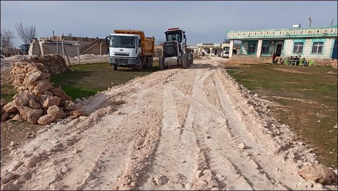 Akkese Kırsal Mahallesinde Stabilize Yol Çalışması