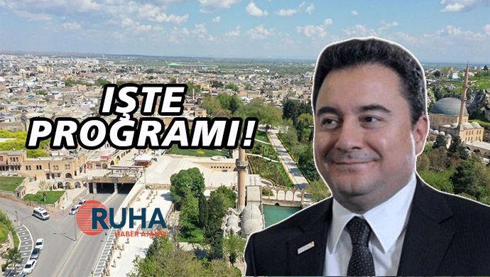 Ali Babacan Şanlıurfa'ya geliyor! İşte programı!