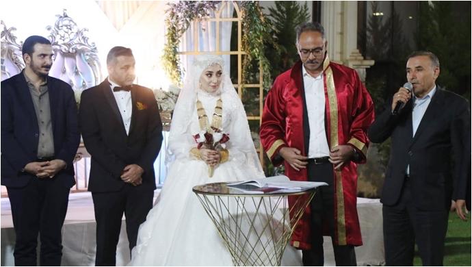 Aydoğdu ve Karaçalı ailelerinin mutlu günü