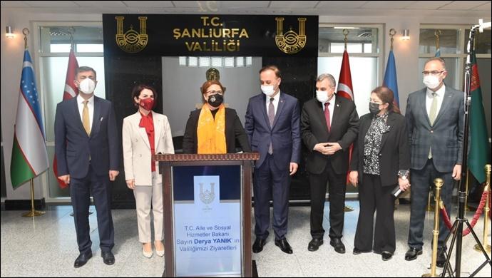 Bakan Derya Yanık, Şanlıurfa Valiliği'ni ziyaret etti-(VİDEO)