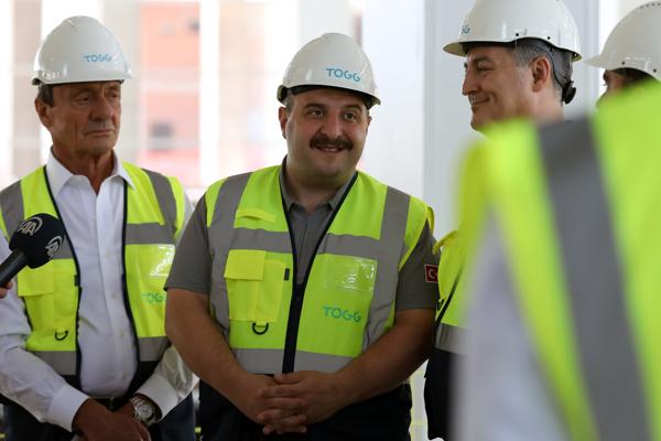 Bakan Varank TOGG gemlik tesisleri inşaatında incelemelerde bulundu