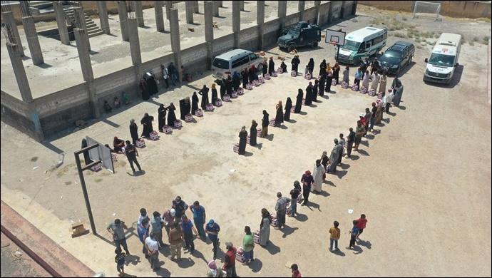 Barış Pınarında 2020'de 426 İnsani Yardım Organize Edildi-(VİDEO)