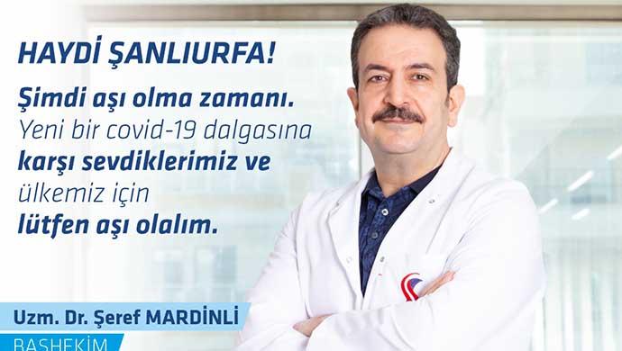 Başhekim Mardinli'den Aşı çağrısı !