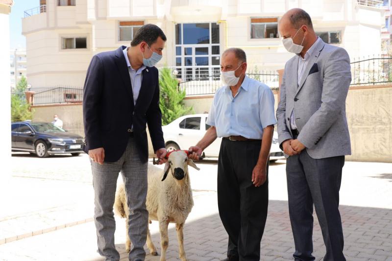 Başkan Baydilli'den Şehit ailelerine kurbanlık koç-(VİDEO)