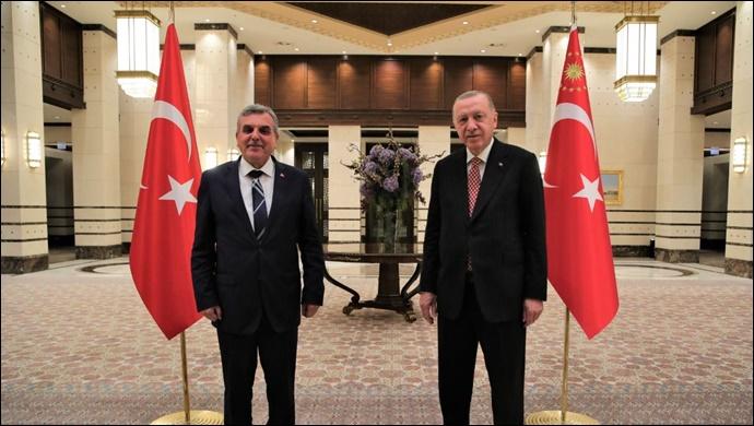 Başkan Beyazgül, Cumhurbaşkanı Erdoğan ile bir araya geldi