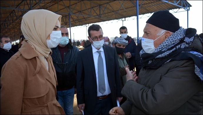 Başkan Çakmak hayvan pazarı esnafını ziyaret etti