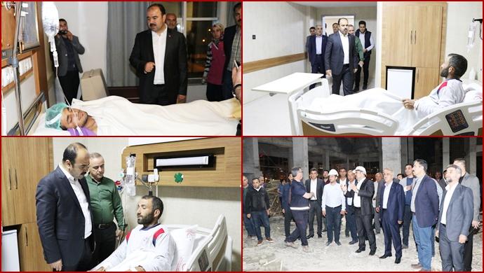 Başkan Çiftçi, Yaralı İşçileri Hastanede  Ziyaret Etti-(Görüntülü)