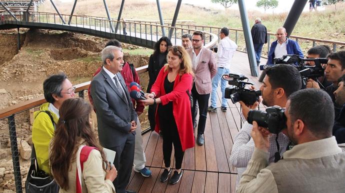 Başkan Demirkol'dan Göbeklitepe'nin Tanıtımına Uluslararası Destek-(Videolu)