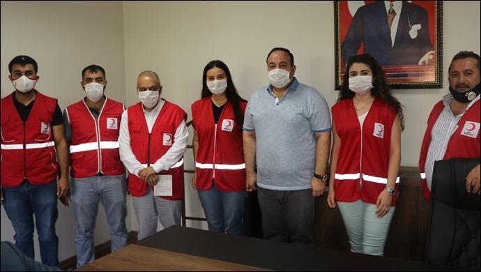 Başkan Ekinciden Türk  Kızılay'a kurban Bağış