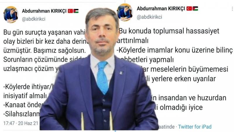 Başkan Kırıkçı'dan 8 Maddelik Çözüm Önerisi !