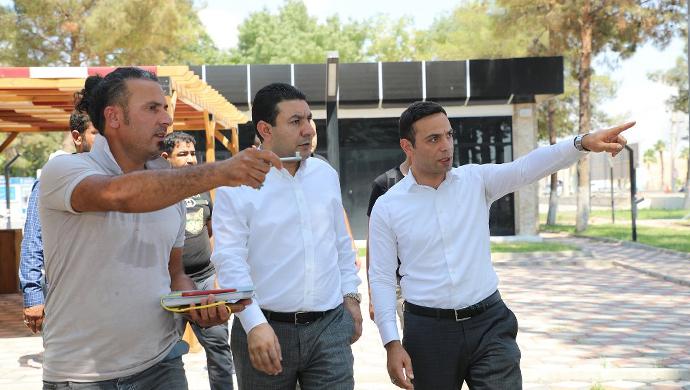 """Başkan Özyavuz: """"sosyal tesisimiz açılışa hazırlanıyor""""-(VİDEO)"""