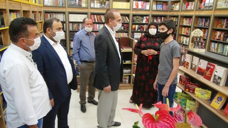 Başkan Yalçınkaya Akçakale İlk Kitap Evinin Açılışını Yaptı