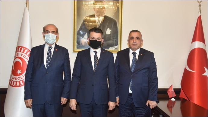 Başkan Yalçınkaya tarım bakanı ile görüştü
