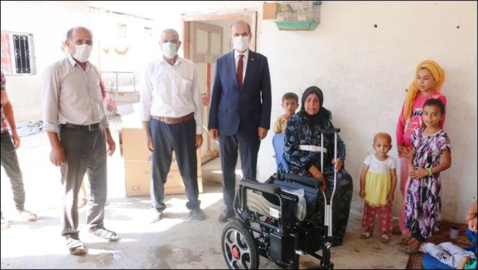 Başkan Yalçınkaya Tekerlekli Sandalye Talebini Geri Çevirmedi