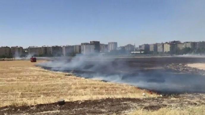 Batıkent'te anız yangını