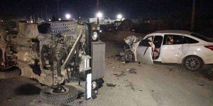 Batman'da zırhlı araç otomobile çarptı: 5 yaralı