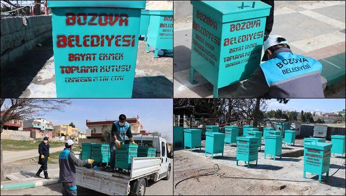 Bozova Belediyesinden ekmeğini çöpe atma Sokak hayvanlarına Hayat ol projesi