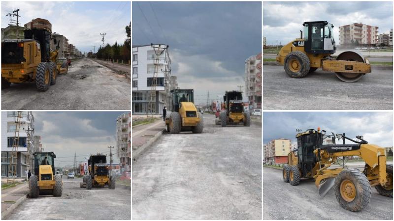 Bozulan yolların onarımına  başlandı