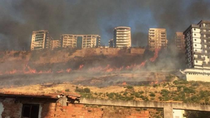 Bu kez Bayraklı'da orman yangını
