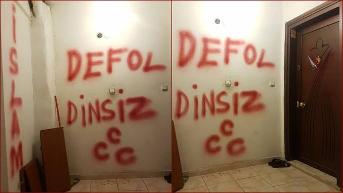 Bu kez İstanbul'da bir Alevi ailenin evi işaretlendi