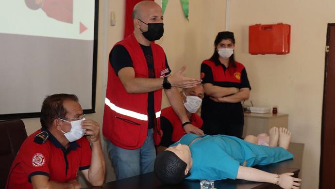 Büyükşehir Belediyesinden temel ilk yardım eğitim-(VİDEO)