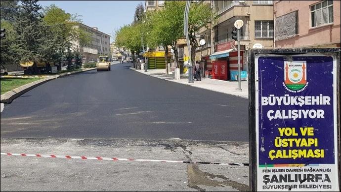 Büyükşehir kısıtlamayı fırsata çevirdi, Açıksu bağlantı Yolları asfaltı yenilendi
