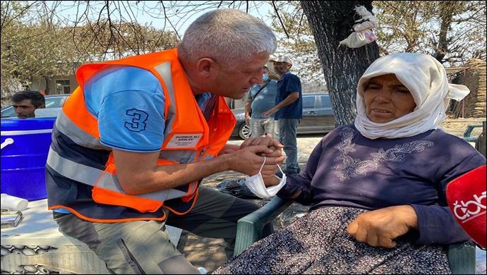 Büyükşehir yangın bölgesinde yaraları sarıyor