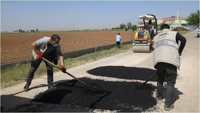 Büyükşehir'den Kısıtlamada Eyyübiye Kırsalında Yol Yapım Atağı-(VİDEO)