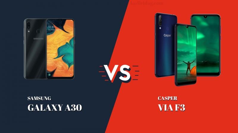 Casper VIA F3 ve Samsung Galaxy A30 Karşılaştırma