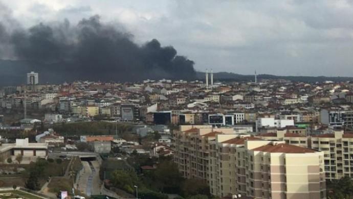 Çekmeköy'de askeri alanda yangın