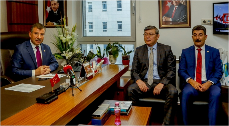Cevheri, Kazakistan Büyükelçisini Kabul Etti