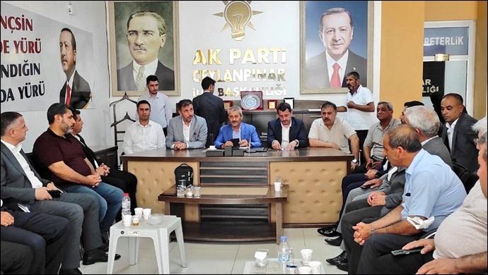 Ceylanpınar AK Parti'de temayül yoklaması yapıldı