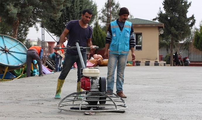 Ceylanpınar'da çocuk oyun parkları yenileniyor
