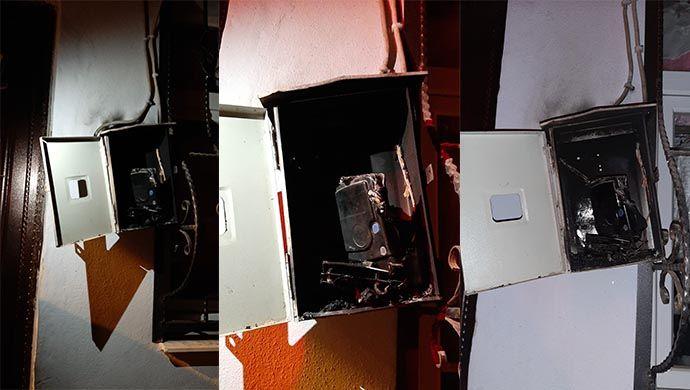Ceylanpınar'da elektrik sayacında yangın çıktı! İtfaiye müdahale etti