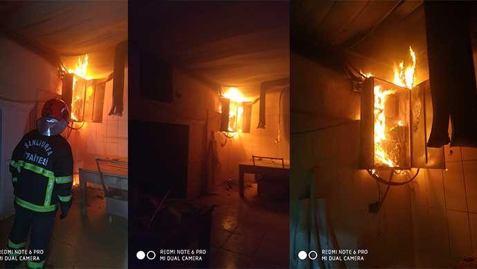 Ceylanpınar'da süt fabrikasında yangın!