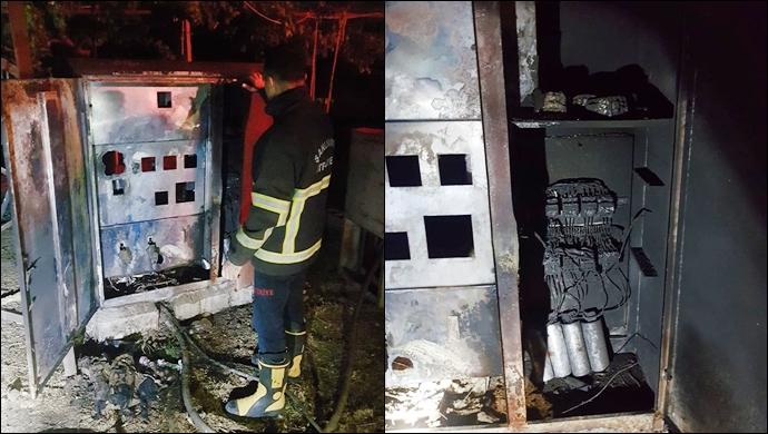 Ceylanpınar'da trafo yangını: İtfaiye müdahale etti
