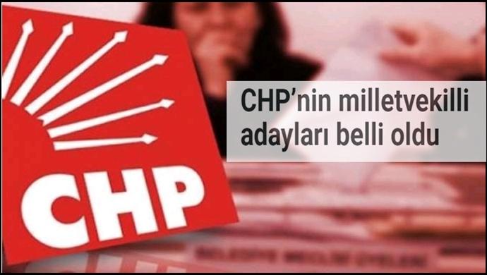 CHP'nin milletvekilli adayları belli oldu